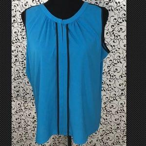 Calvin Klein Blue V- Neckline Top